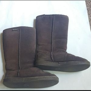 BearPaw Brown Fall Boots Size 6